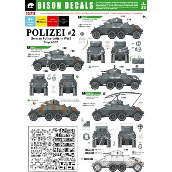 Polizei 2. German Police units. ADGZ-armoured car.