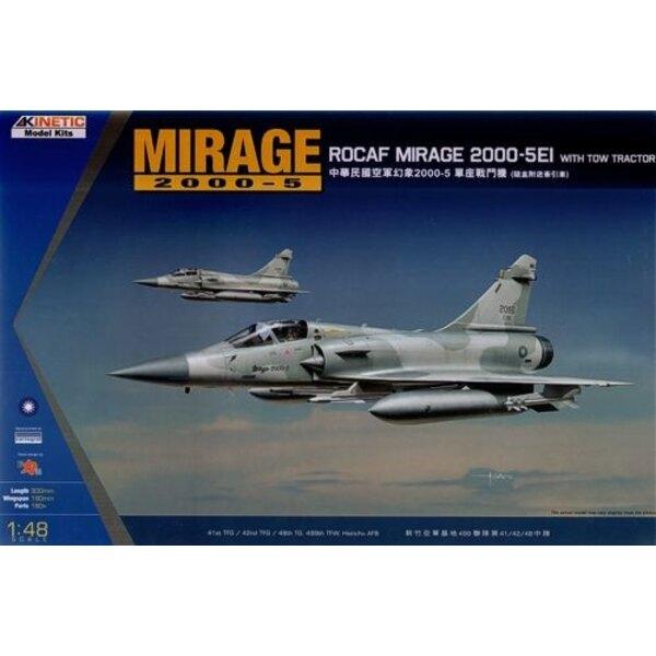 Dassault Mirage 2000-5 EI ROCAF with Tow Tractor