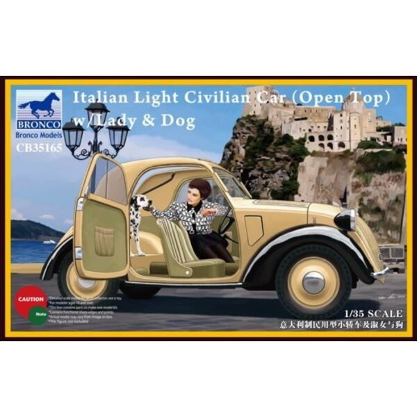 Italian Civil Car Light (Open Top ) con Lady / Perros