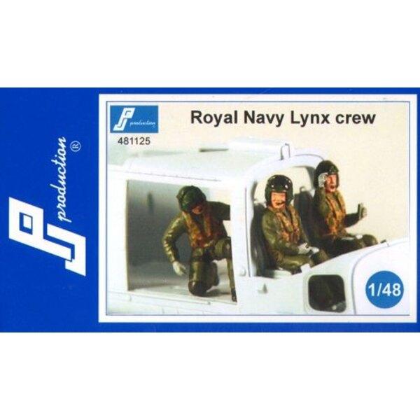 Royal Navy equipo Lynx . La caja contiene tres figuras en vuelo multidrive Todos que son dos pilotos y un tercer miembro en la p