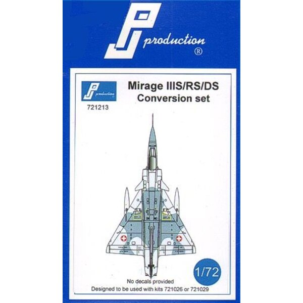 Dassault Mirage IIIS / RS / DS conversion kit. This conversion kit is designed to be used with the Mirage IIIE kit ( PJ721026 )