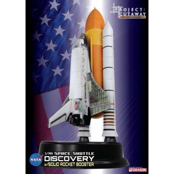 Descubrimiento del transbordador espacial w / Solid Rocket Booster - Cutaway