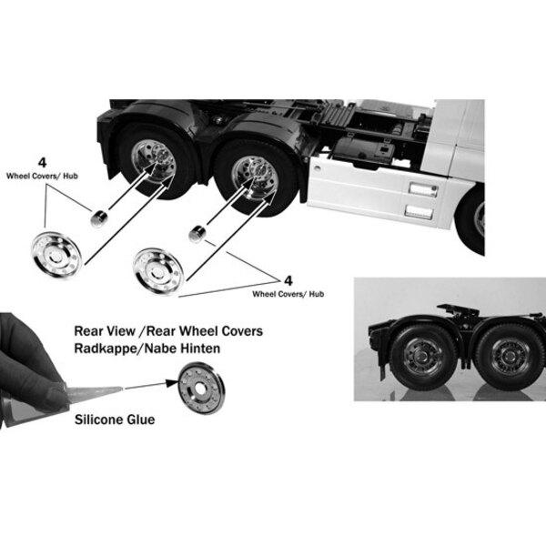 Enjoliveur de roues chromées (6)