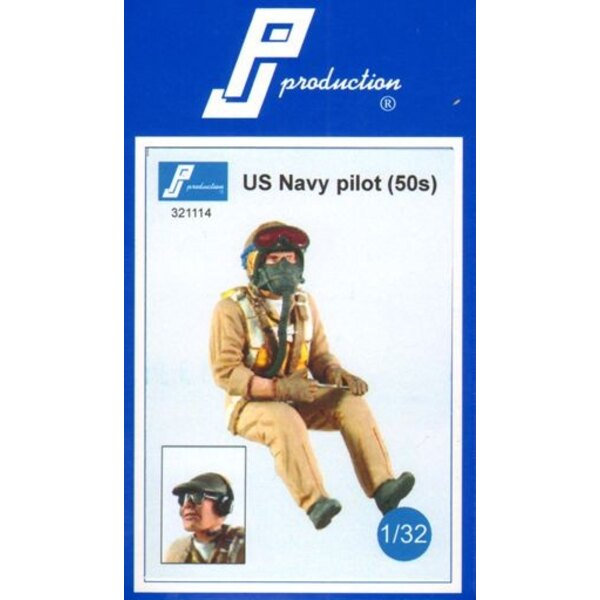 U.S. Navy pilot of the 50s . Multipose figure of a pilot in flight . A second head with cap and headset is Provided .