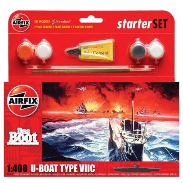 Das Boot U- Boat Type VII C Starter Set include colori acrilici , pennelli e cemento poli