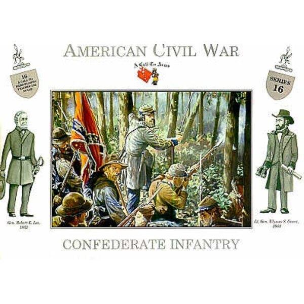 Guerre de sécession - Infanterie Confédérée - 16 figurines