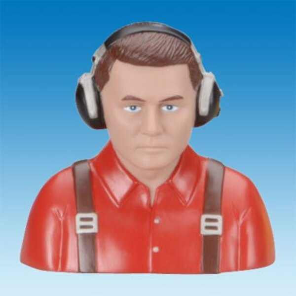 BUST OF CIVIL PILOT RED PAINTED - 15
