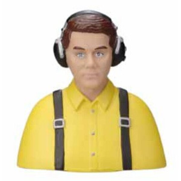 BUST OF CIVIL PILOT PAINTED YELLOW - 15