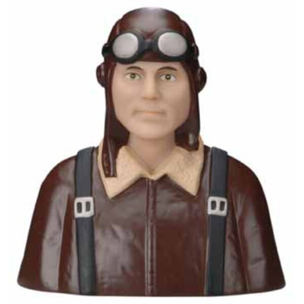 BUST OF GERMAN PILOT PAINTED 1418 - 15
