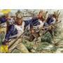 Fusiliers français napoléoniens : 48 figurines. Fusiliers de ligne français post-1812 en tenue de campagne.