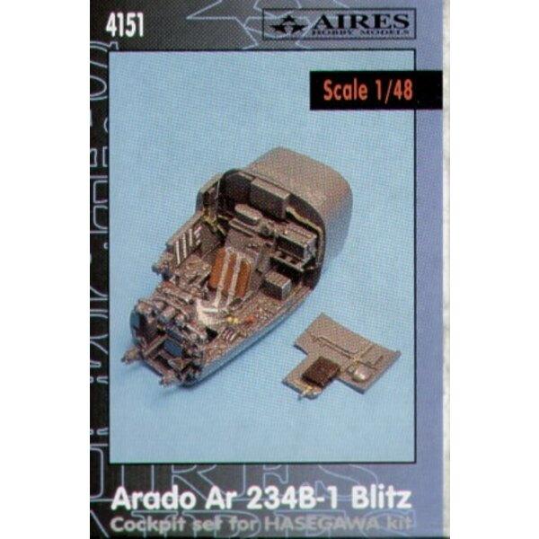 Arado Ar 234B-1 Blitz cockpit set (diseñado para ser ensamblado con maquetas de Hasegawa)