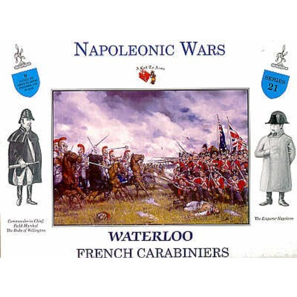 Carabiniers français à Waterloo - 4 figurines à cheval