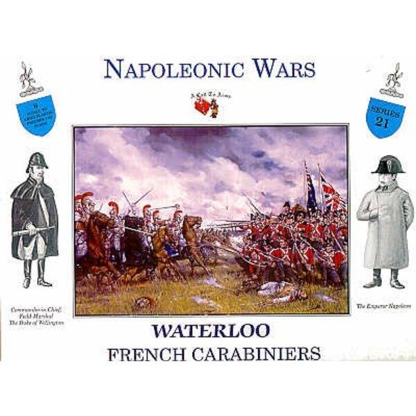 Carabiniers français à Waterloo - 4 figurines à cheval