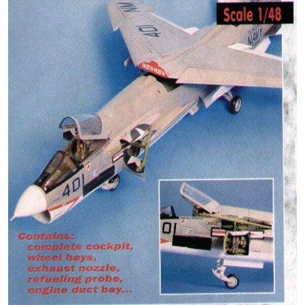 kit de détail de Vought F-8E Crusader (pour maquettes Hasegawa)