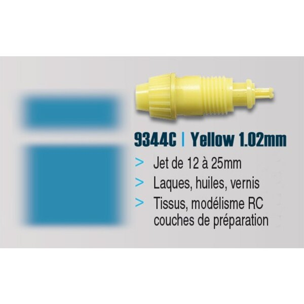 NOZZLE LARGE Yellow 1.02mm