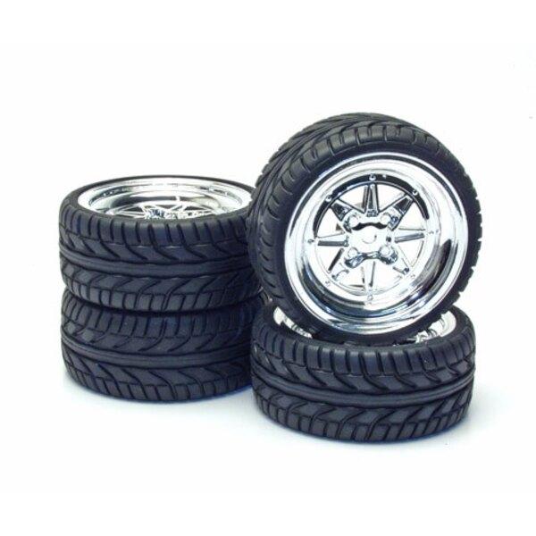4 Chrome Wheels Tires A