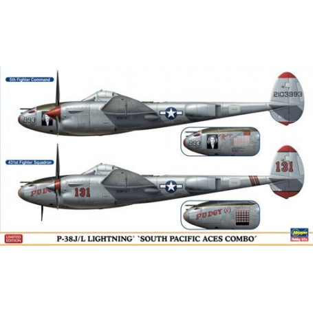 Lockheed P- 38J / L Lightning South Pacific Aces Combo (Two kits in the box )