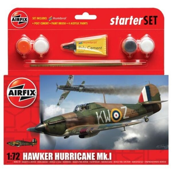 Regalo Hawker Hurricane Mk.I o conjunto de arranque con las pinturas , pincel y el cemento de poli