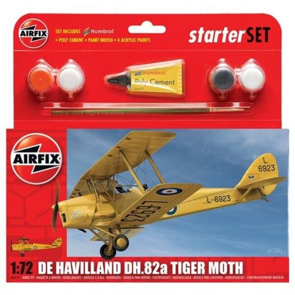 de Havilland Tiger DH.82 Mothgift o arrancador fijaron con pinturas , pincel y el cemento de poli Nueva Tooling