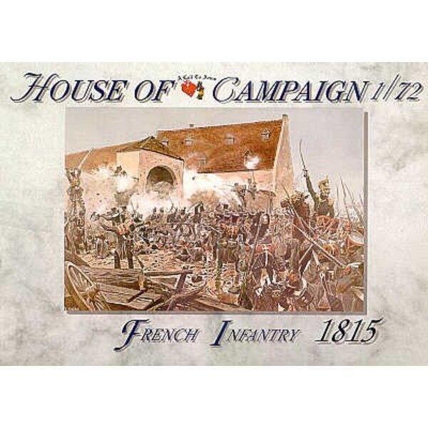 Infanterie de Ligne française 1815. 8 différentes poses. 4 de chaque pose.