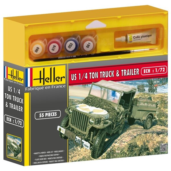 Willys Jeep-Trailer Kit 1:72