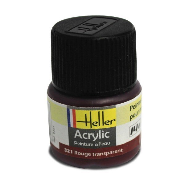 Rouge Transparent acrylique 12ml