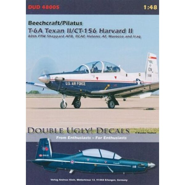 Beechcraft T-6 Texan II /CT-152 Harvard II Decals for 80th FTW Sheppard AFB RCAF Helenic AF Morocco Iraq