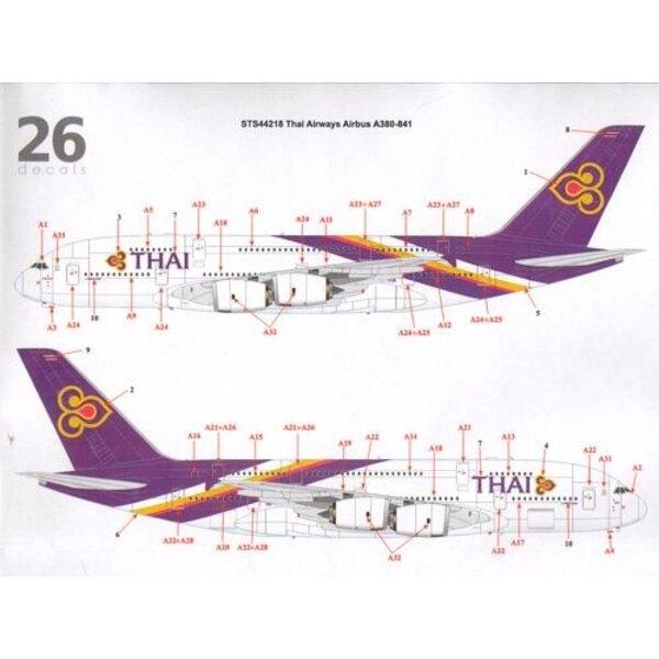 Décal Thai Airways Airbus A380-841 Thai Airways