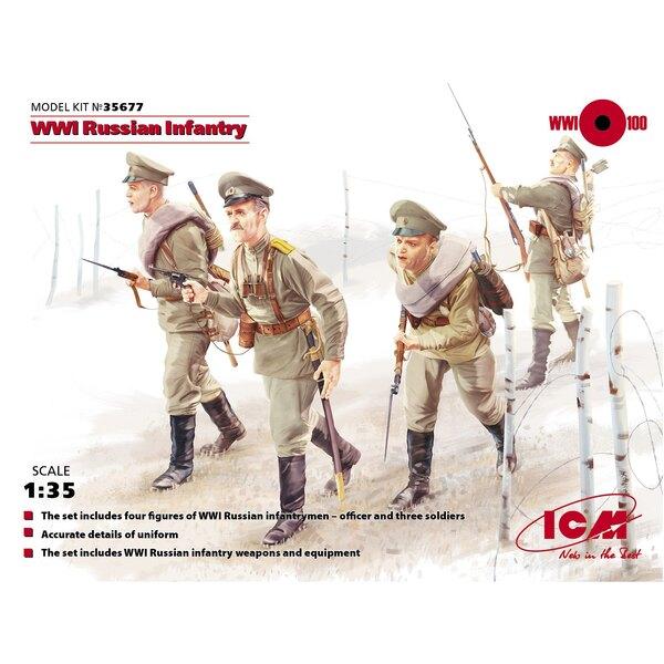 WWI ruso Infantería (Figuras 4 x)
