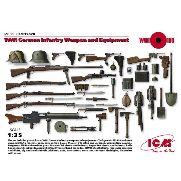 WWI infanterie allemande armes et équipements