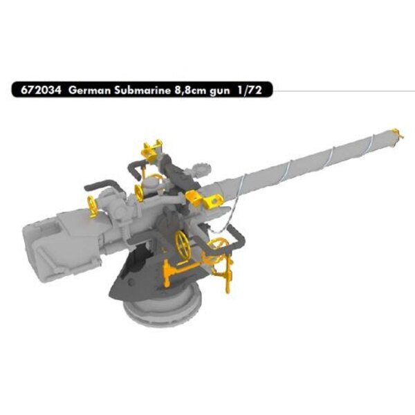 German Submarine 8.8cm gun (designed to be used with Revell kits)