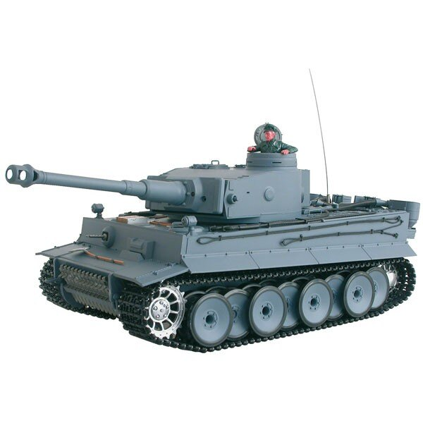 CHAR DASSAUT RC 1/16 GERMAN TIGER COMPLET (BRUIT / FUMEE)