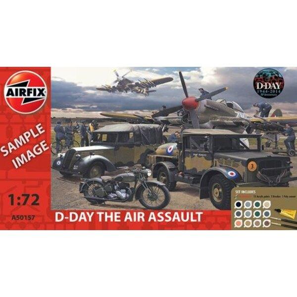 Día D Asalto Aéreo Set de regalo (regalo o conjunto de arranque con las pinturas, pincel y el cemento poli)