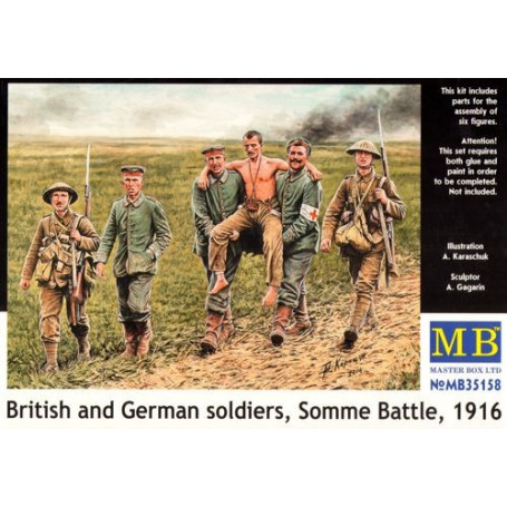 British and German soldiers, (WWI)Somme Battle, 1916