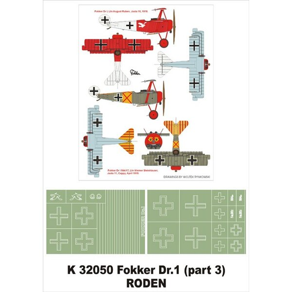 Fokker Dr.1 2 insignia masks (designed to be used with Roden kits)