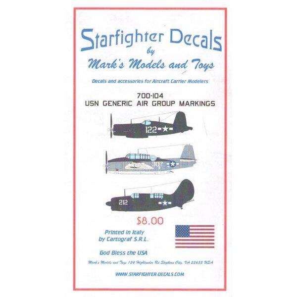 Genéricos USN Air Group Marcas Aviones 1,945 marcas genéricas para aviones USN sirviendo en Grupos de aire desde finales de 1944