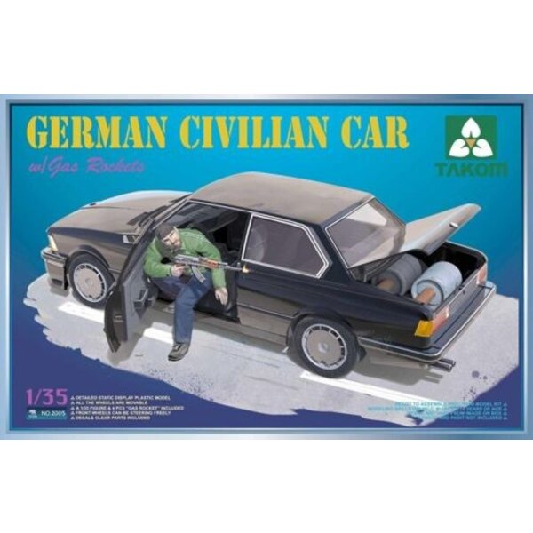 German Civilian Car (BMW) with Gas Rockets, Workable steering - 1 figure included