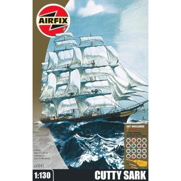 Cutty Sark (gift or starter set with paints paint brush and glue)