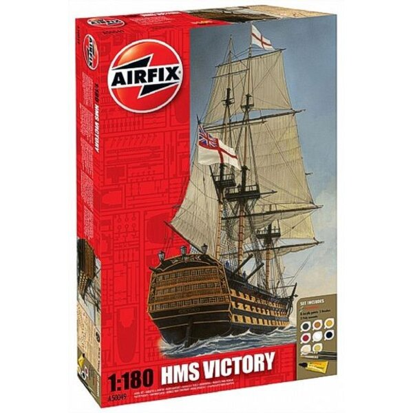 HMS Victory. Set includes 8 Acrylic Paints 2 Brushes and 2 glues