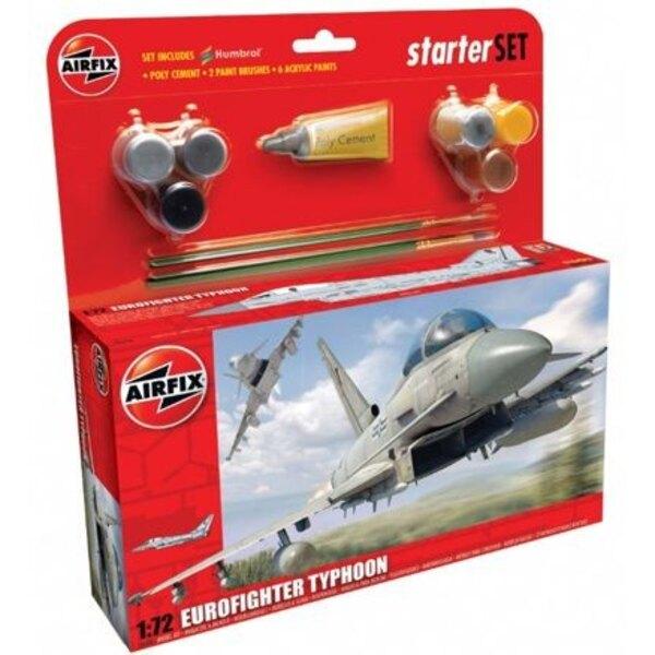 Eurofighter Typhoon. Le pack inclut 6 peintures acrylique 2 pinceaux et 1 tube de colle