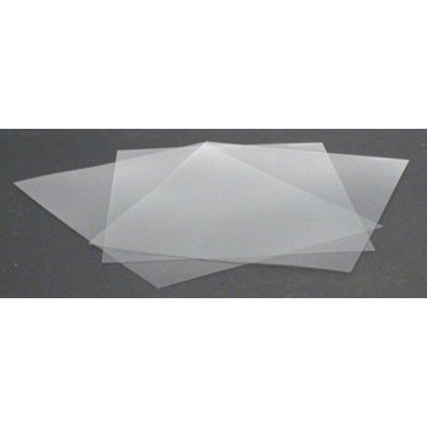""".015 Clear Plastic Sheet 8.5""""x11"""" (2/bag)"""
