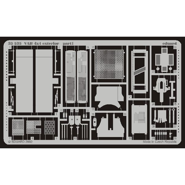 extérieur de VAB 4 x 4 (pour maquettes Heller)