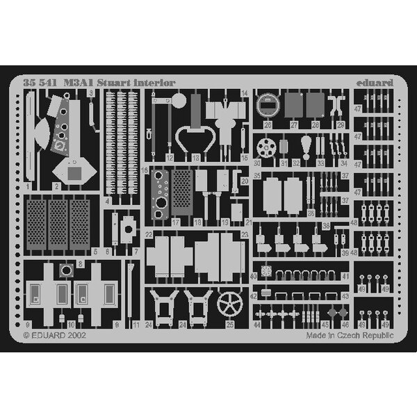 intérieur de M31A1 Stuart (pour maquettes Academy)