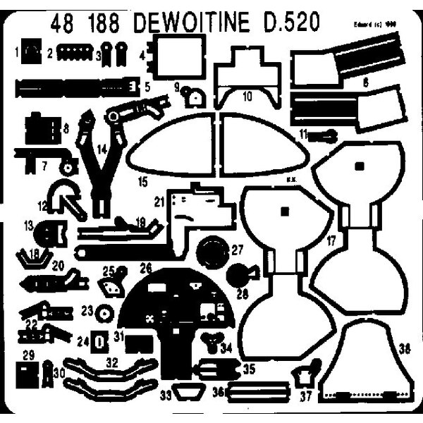 Dewoitine D.520 (pour maquettes Tamiya)