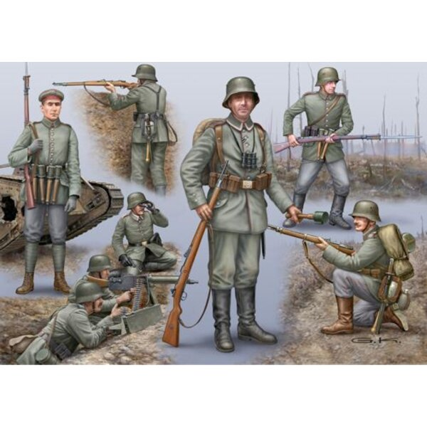WWI German, British and French Figure SetDue March 2015