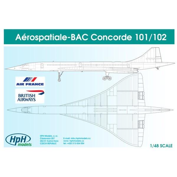 Aerospatiale Concorde Decals Air France And British Airways