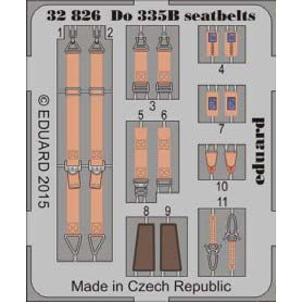 Ceintures de sécurité Dornier Do 335B-2 'Zerstörer (conçus pour être utilisés avec Hong Kong Modèles kits)
