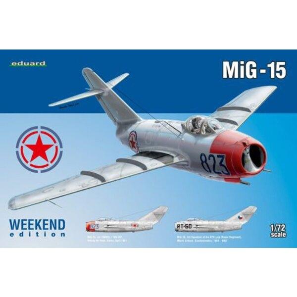 Mikoyan MiG-15 pour octobre 2014 PRESSE outil Eduard faites en 2013, décalcomanies imprimées par Eduard, deux options de marquag