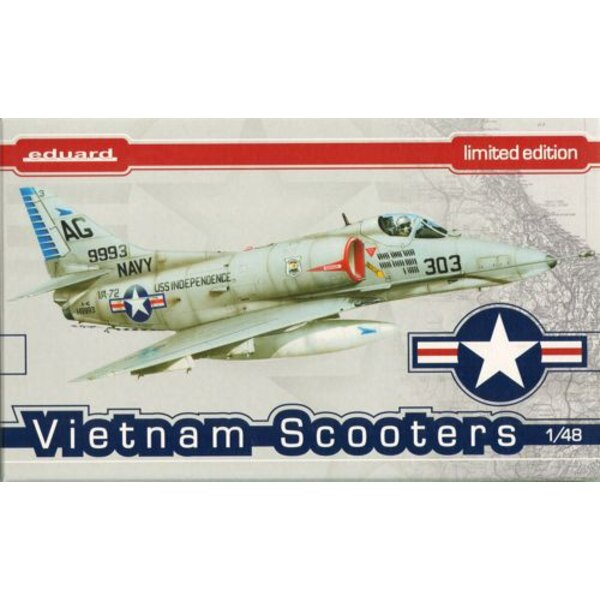 Vietnam Scooters Hasegawa plastic (Douglas A-4E / F Skyhawk), decals printed by Cartograf, 6 marking options, photo-etch, resin