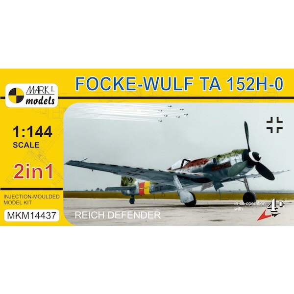 Focke-Wulf Ta 152H-0 'Reich Defender'. Two injection-moulded kits are supplied in this box and each kit contains 26 parts and on
